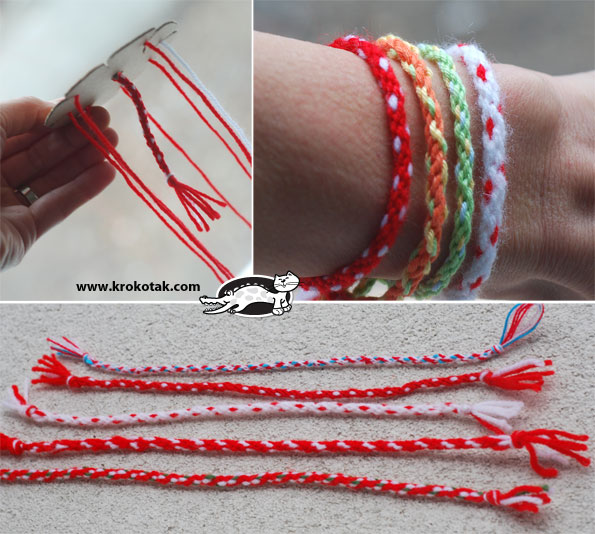 ساخت کاردستی دست بند با کاموا