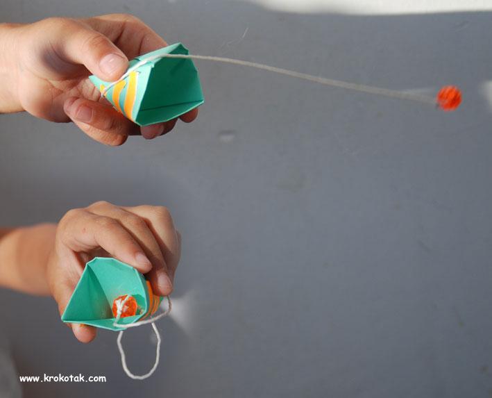 کاردستی بازی توپ و سبد