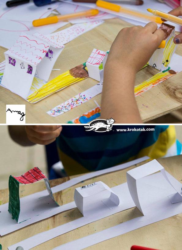 کاردستی جالب ساخت شهر با کاغذ