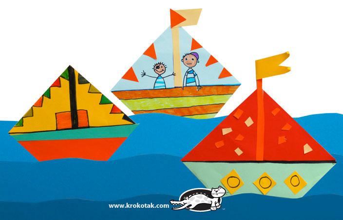کاردستی ساخت دریا و قایق