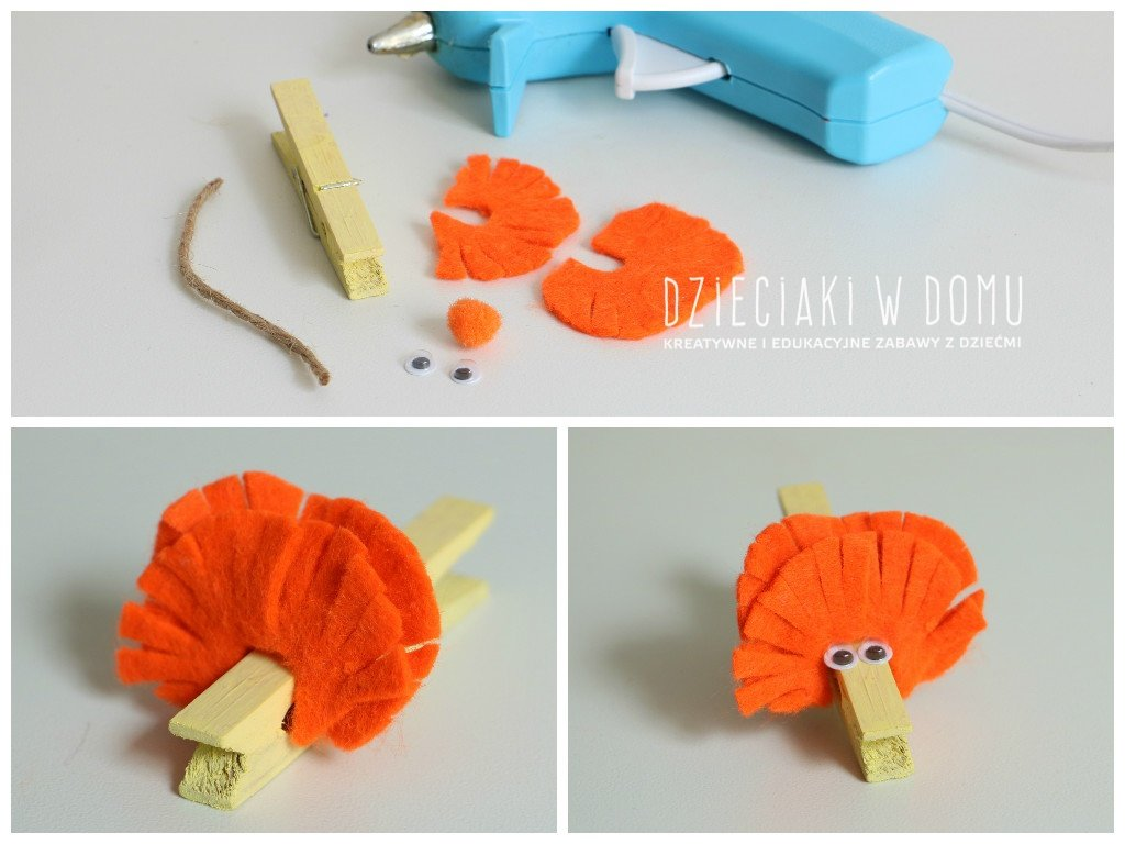 کاردستی ساخت موش با گیره لباس