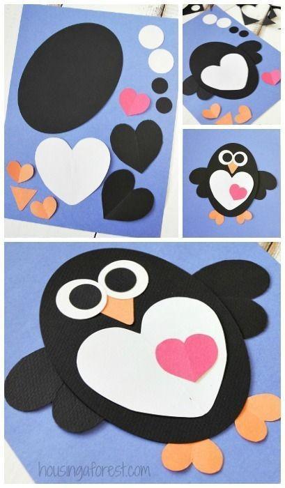 کاردستی بچه 5 ساله کاردستی کودک : ساخت حیوانات با کلاژ قلبی