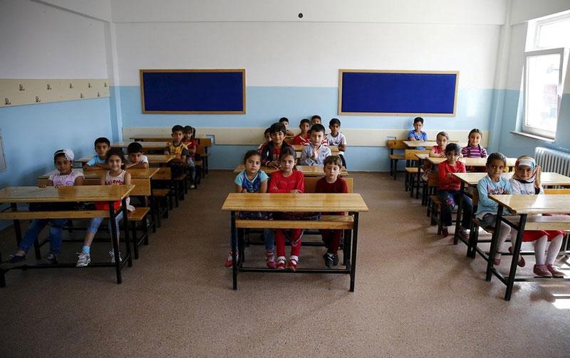دانش آموزان دوره ابتدایی، آنکارا، ترکیه.