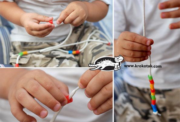 کاردستی ساخت خرس با پلاستیک کاردستی ساخت دست بند با پلاستیک
