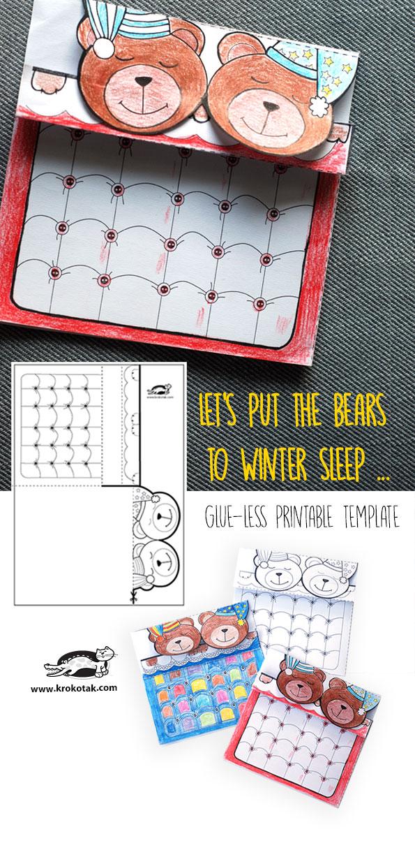 کاردستی ساخت خرس با پلاستیک کاردستی ساخت رخت خواب خرس ها با پرینتر