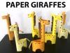 کاردستی ساخت زرافه  با کاغذ رنگی