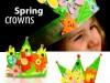 کاردستی کودک: ساخت تاج با کاغذ رنگی