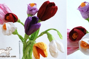 ساخت کاردستی گل برای روز مادر