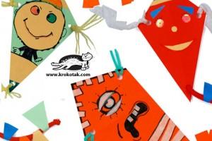 کاردستی ساخت بادبادک با کاغذ رنگی