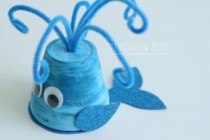 کاردستی ساخت نهنگ با گلدان