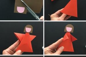 کاردستی با کاغذ رنگی برای کودکان و پیش دبستانی ها: ساخت مجسمه های کاغذی