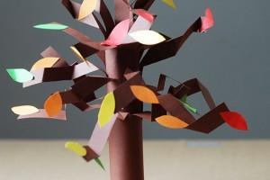 کاردستی کودک: درخت پاییزی