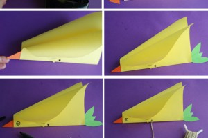 کاردستی کودک: ساخت کایت ساده به شکل پرنده