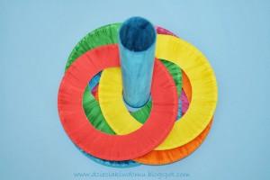 کار دستی کودک بازی میله و حلقه