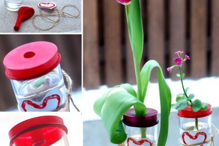 ساخت کاردستی گل و گلدان آب