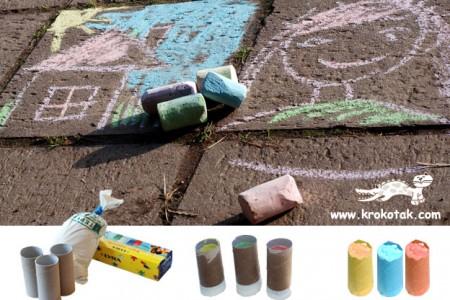 ساخت گچ های رنگی با رول دستمال کاغذی