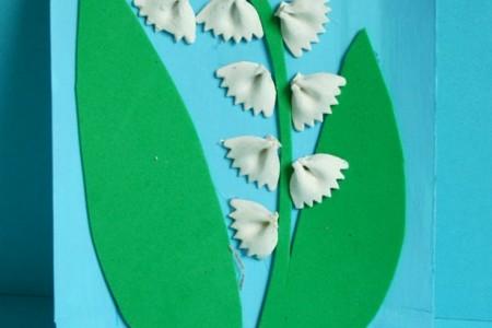 کاردستی ساخت کارت پستال با ماکارونی شکلی