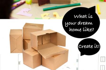 کاردستی کودک: خانه مقوایی