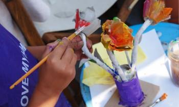 ساخت کاردستی با شانه تخم مرغ و رول دستمال کاغذی
