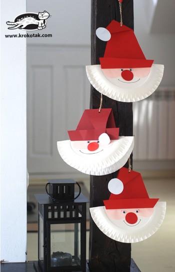 کاردستی ساخت بابانوئل با کاغذ رنگی
