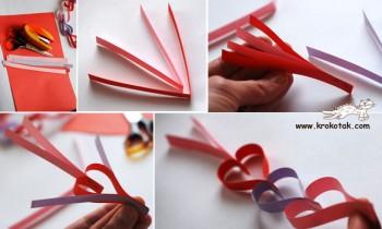 کاردستی ساخت قلب با کاغذ رنگی