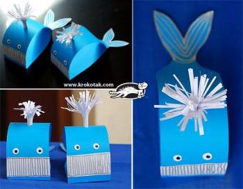 کاردستی ساخت نهنگ با کاغذ رنگی