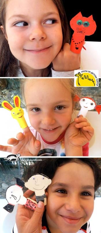 کاردستی با کاغذ رنگی برای کودکان و پیش دبستانی ها: ساخت عروسک های انگشتی