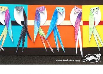 کاردستی با کاغذ رنگی برای کودکان و پیش دبستانی ها: ساخت پرستوهای رنگی