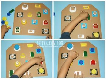 کاردستی کودک: بازی با درب های بطری