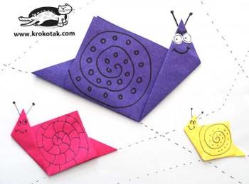 کاردستی کودک: حلزون کاغذی با اوریگامی
