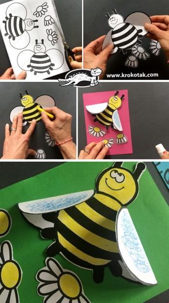 کاردستی کودک: زنبور کاغذی