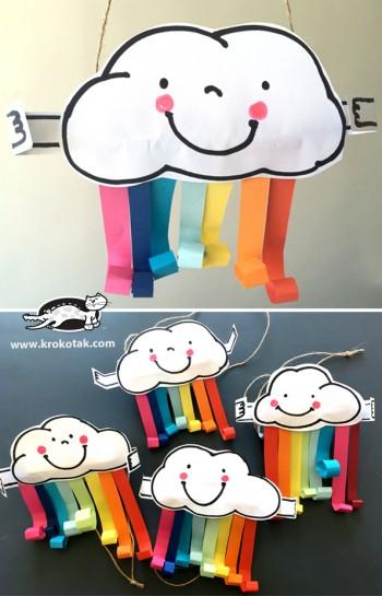 کاردستی کودک: ساخت ابر و رنگین کمان