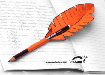 کاردستی کودک: ساخت قلم به شکل پر