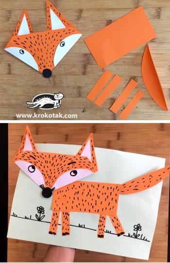 کاردستی کودک: ساخت و نقاشی روباه کاغذی