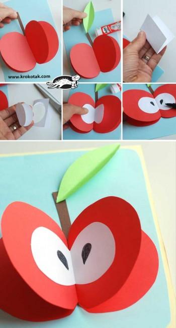 کاردستی کودک: ساخت کارت پستال میوه ای