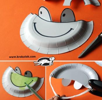 کاردستی کودک: ساخت کلاه آفتابگیر با بشقاب یک بار مصرف
