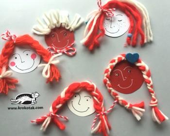 کاردستی کودک: صورتک با موهای کاموایی