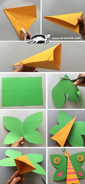 کاردستی کودک: پروانه کاغذی برای اجرای نمایش