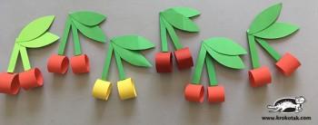 کاردستی کودک: گیلاس کاغذی