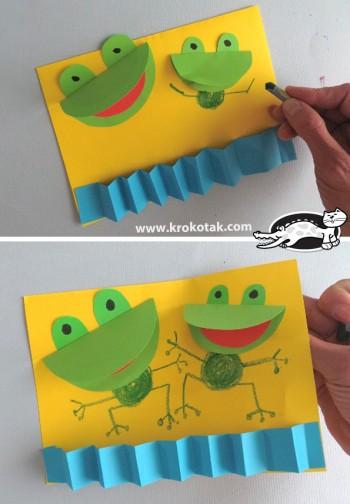کاردستی کودک ساخت قورباغه با کاغذ