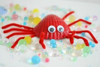 کاردستی کودک با صدف و سنگ: دریای کوچک