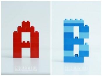 کار دستی کودکان - ساخت حروف الفبای انگلیسی با لگو