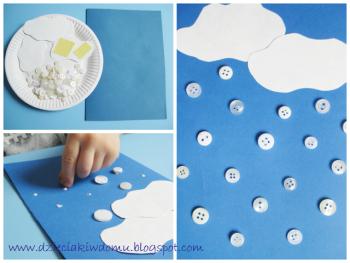 کاردستی کودک ساخت آسمان و ابر