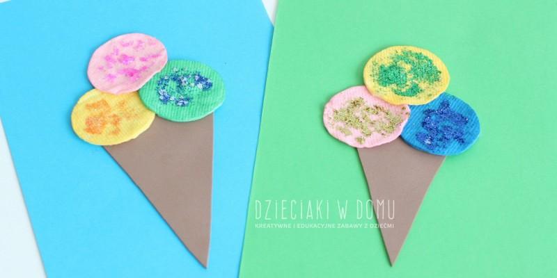 کاردستی ساخت بستنی با کاغذ یا پارچه رنگی