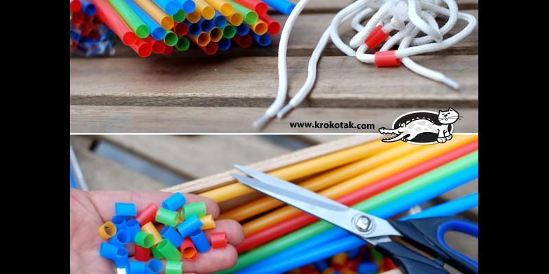 کاردستی ساخت دست بند با پلاستیک