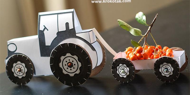 کاردستی ساخت ماشین با کاغذ رنگی