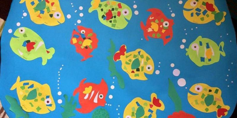 کاردستی ساخت ماهی با کاغذ رنگی