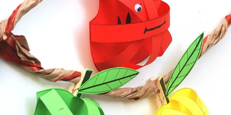 کاردستی سیب با کاغذ رنگی