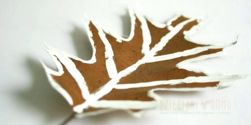 کاردستی نقاشی روی برگ های درختان