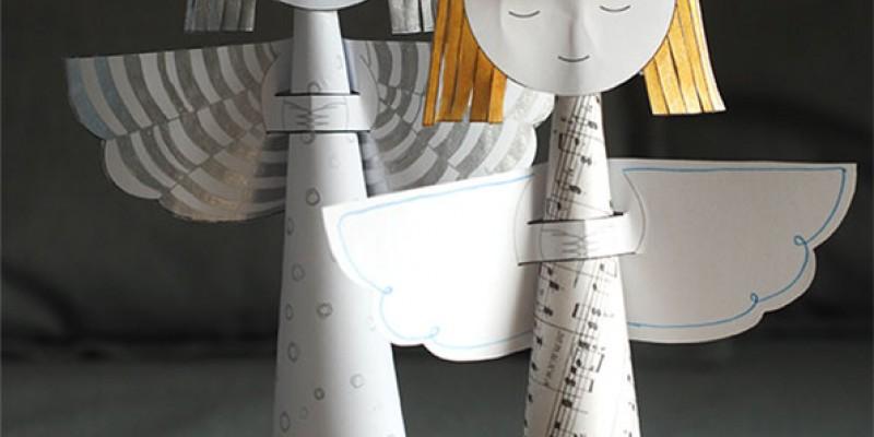 کاردستی با کاغذرنگی: ساخت فرشته ی سه بعدی